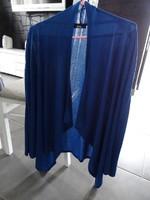 veste longue évasé MIM fluide taille 38/40 avec zip sur les épaules bleu roi Ttbe 10€