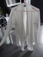 veste longue évasé MIM fluide taille 38/40 avec zip sur les épaules écru tbe 8€