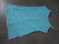nuisette bleu turquoise fluide doublé 38/40 neuve 9euros bretelles reglables