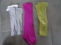 lot de collants verte kaki tbe fuchsia tbe résille noir et blanc neuf 4€ pièces
