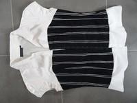 chemisier corset tbe noir et blanc kiabi 38 be 6€