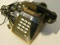 Téléphone filaire rétro avec combiné
