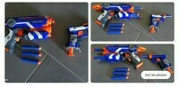 Lot de 2 pistolets nerf firestrike jolt avec fléchettes