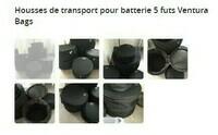 Housses de transport pour batterie 5 futs Ventura Bags