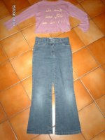 17   pantalon okaidi taille 8ans elastiqué TBE 3e