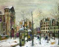 Place des Abbesses sous la neige (Utrillo)
