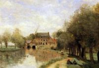 Le Moulin Drocourt sur la Sensée (Corot)