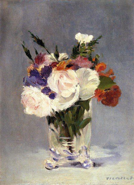 Fleurs dans un vase en cristal (Edouard Manet)