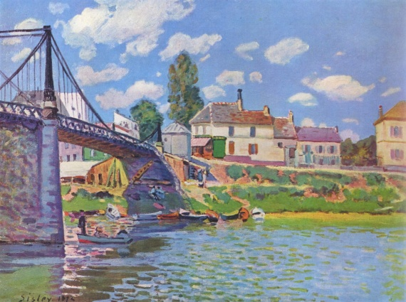 Pont de Villeneuve la Garenne (Alfred Sisley)