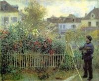 Monet peignant son jardin à Argenteuil (Auguste RENOIR)