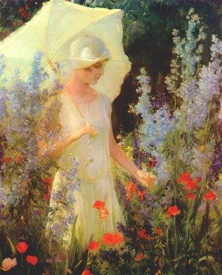 Jeune fille à l'ombrelle (Charles Courtney Curran)