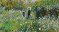 Femme à l'ombrelle dans un jardin (Renoir)