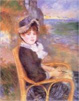 Femme assise au bord de la mer (Renoir)