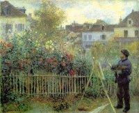 Monet peignant son jardin à Argenteuil, Renoir