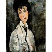 Portait de femme avec cravate, Modigliani