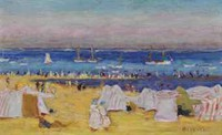 Pierre Bonnard, la plage d'Arcachon