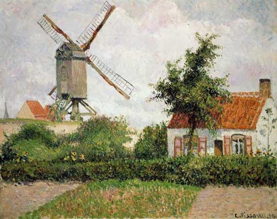 Camille Pissarro, Moulin à vent à Knocke