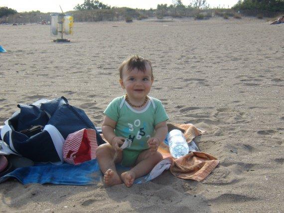 13 mois et demi sur la plage