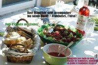 Salade aux Framboises / Bacon