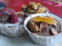 Cheesecakes Coco/framboises/Chocolat et Cupcakes Chocolat façon mendiant