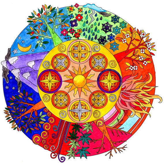 Mandala 4 saisons