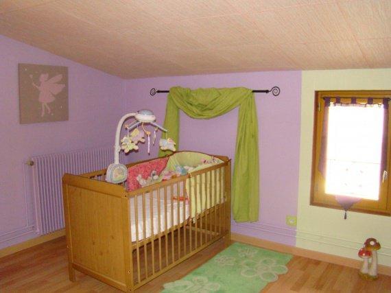 Chambre De Bebe Mauve : Chambre Rose Fushia Et Vert Anis Tapis déco salon chambre textile