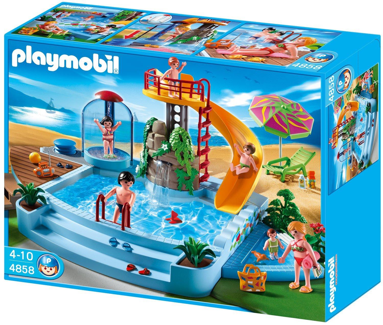 4858 playmobil piscine avec toboggan 9 nouvelle for Playmobil piscine toboggan