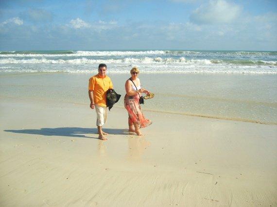 Promenade sur la plage,