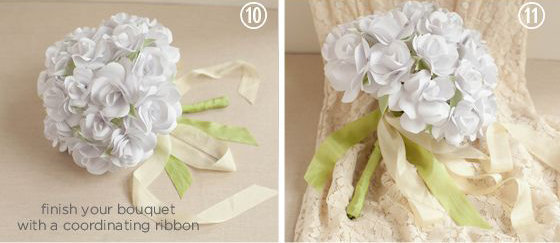 bouquet roses en papier