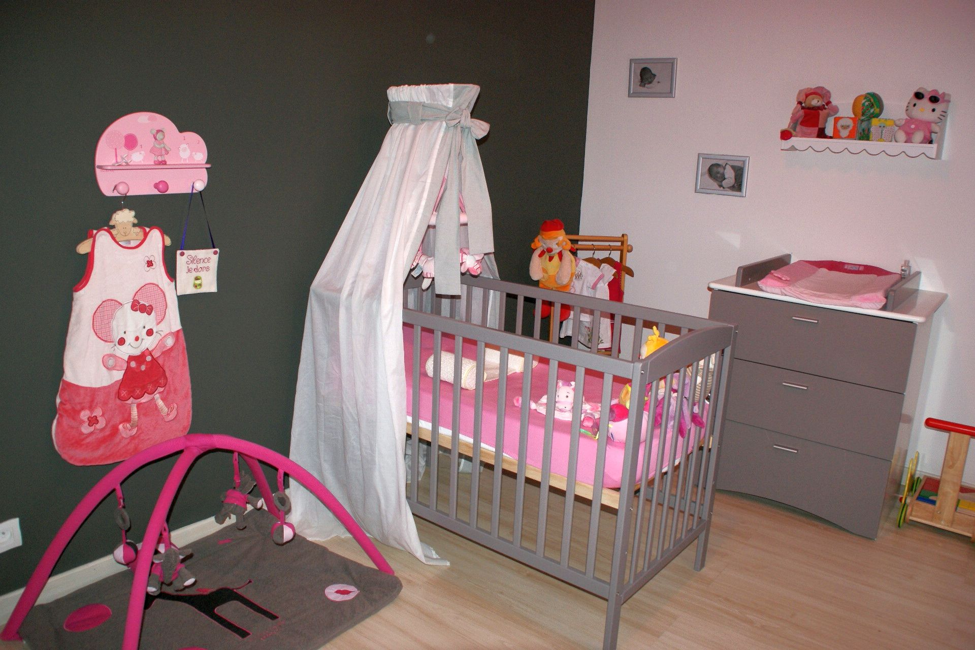 Beautiful Chambre Bebe Fille Gris Et Rose Pictures - Design Trends ...