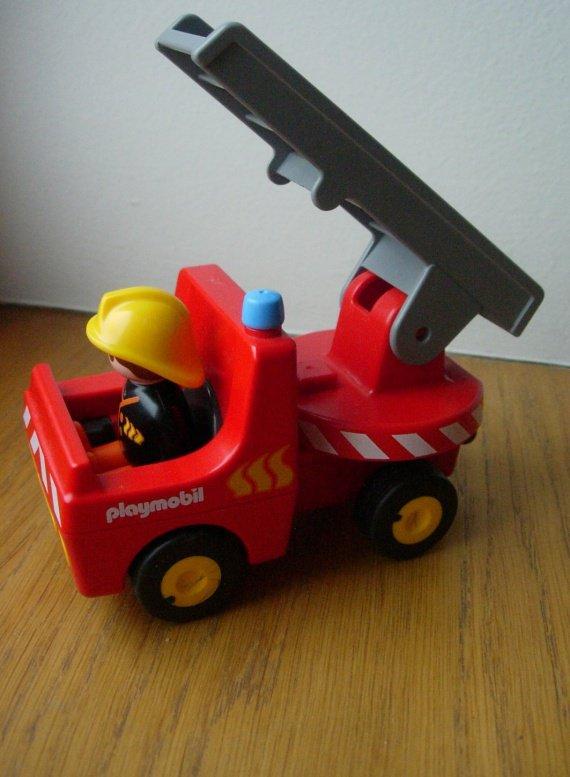 camion pompier playmobil 1 2 3 vendu cammille22. Black Bedroom Furniture Sets. Home Design Ideas