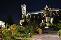 Cathédrale Saint-Etienne depuis les jardins de l'Evêché.