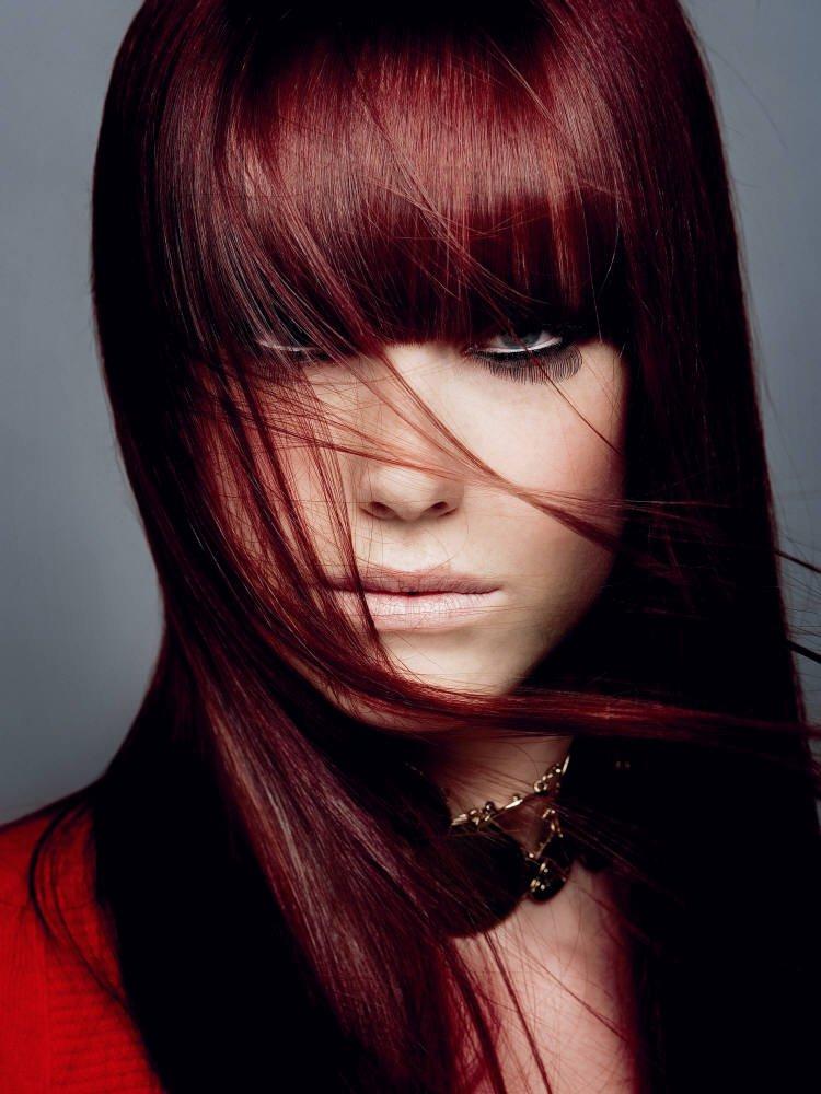 Couleur de cheveux rouge cachemire
