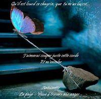 courage il est certain l'absence....courage tu as tellement d'amour autour de toi.....