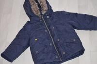 ( P42) 7e le joli manteau bien chaud avec capuche 12mois