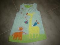 ( P6B ) 4e - tres jolie robe legere DPAM theme animaux !! 1an