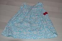 ( P 8 B) 3 euros la  robe a coeur bleu et petit noeud rouge -6 mois /12 mois (D)