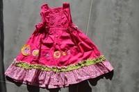 ( P 5 ) 13e - la belle robe colorée , petites fleurs CATIMINI fushia , 6 mois (valeur neuve 79e)