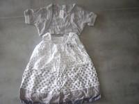 ( P 9B ) 5e - superbe ensemble robe a pois + gilet assorti - 6mois