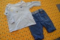 ( P 6 ) 5e le bel ensemble OBAIBI avec haut ML + pantalon/pantacourt - ETAT NEUF