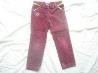 ( P2) 2.50 euros le pantalon velours bordeaux ORCHESTRA