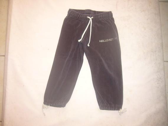 ( P4 B ) 2 euros le pantalon velours bleu marine HELLO KITTY 2 ans