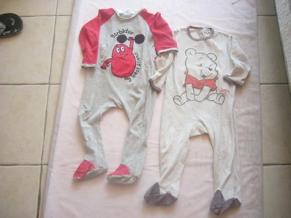 ( P50 B ) 1.50 euro  le pyjama Disney ( le Barbapapa est vendu)