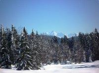 Vue sur le Mont Blanc depuis les monts Jurassiens