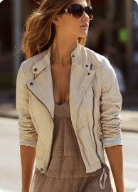 Veste simili cuir femme blancheporte