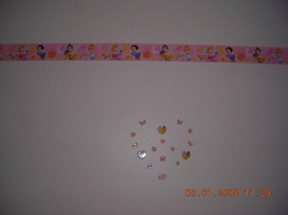 La frise murale et le coeur la chambre de ma fille - Frise murale chambre fille ...