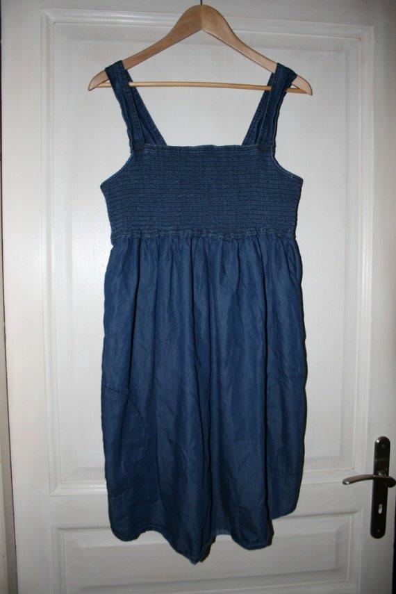 robe de grossesse en jean taille XL, 5 euros
