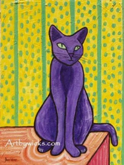 cat purple cat