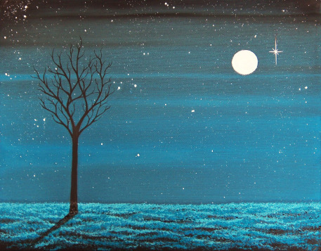 cheap-oil-painting-of-the-night-sky