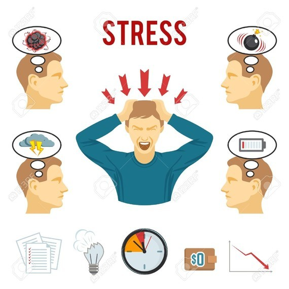 43210292-mental-health-disorders-and-work-related-stress-anxiety-and-depression-symptoms-icons-set-a
